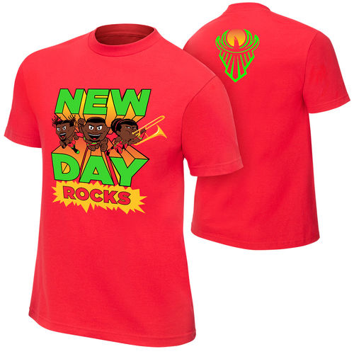 "New Day ""New Day Rocks"" Red Special Edition T-Shirt"