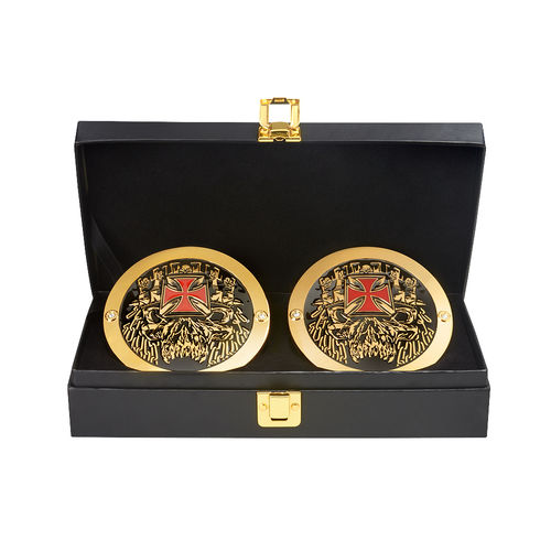 Triple H WWE World Heavyweight Championship Replica Title Side Plate Box Set