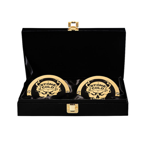 Stone Cold Steve Austin WWE World Heavyweight Championship Replica Title Side Plate Box Set