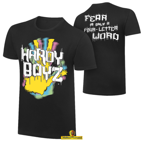 "The Hardy Boyz ""Fear is only a Four Letter Word"" Retro T-Shirt"