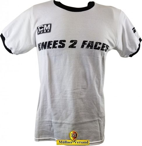 CM Punk Knees 2 Faces  T-Shirt