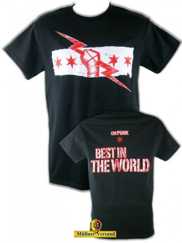 "CM Punk ""Best In The World"" Black Version T-Shirt"
