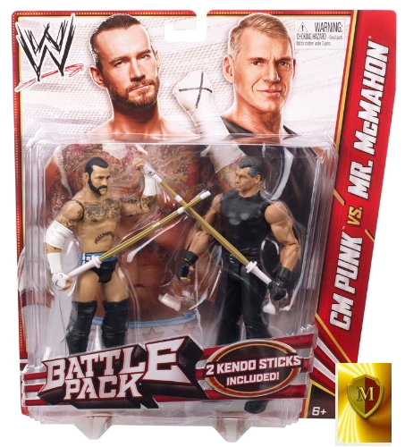 CM PUNK vs MR VINCE McMAHON BATTLEPACK 23