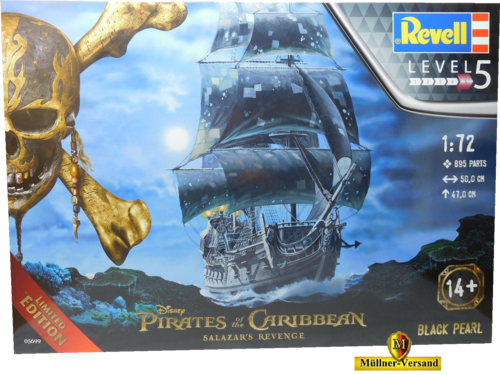 Pirates of the Caribbean Salazars Rache Modellbausatz 1/72 Black Pearl 47 cm