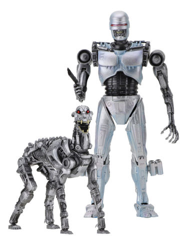 RoboCop vs The Terminator Actionfiguren Doppelpack EndoCop & Terminator Dog 18 cm