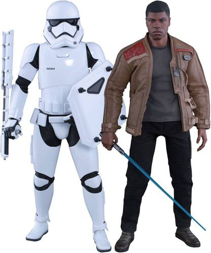 Star Wars Episode VII MMS Actionfiguren Doppelpack 1/6 Finn & First Order Riot Control Stormtrooper