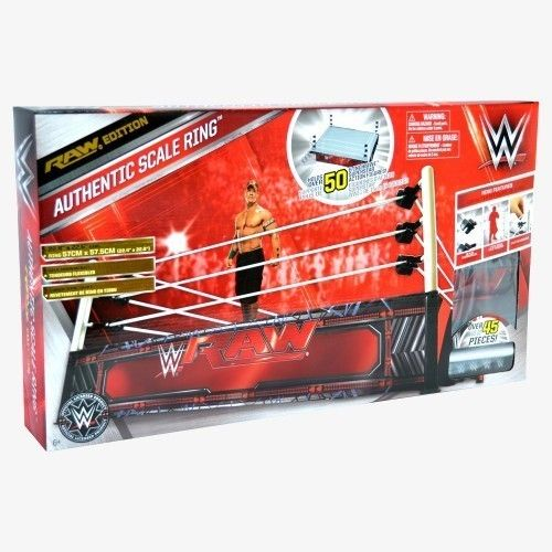 WWE AUTHENTIC SCALE RAW RING PLAYSET