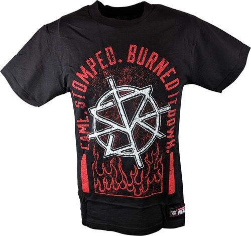 Seth Rollins Came. Stomped. Burned it Down Authentic T-Shirt