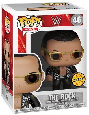 WWE Wrestling POP! WWE Vinyl Figuren The Rock (Old School) 9 cm Case
