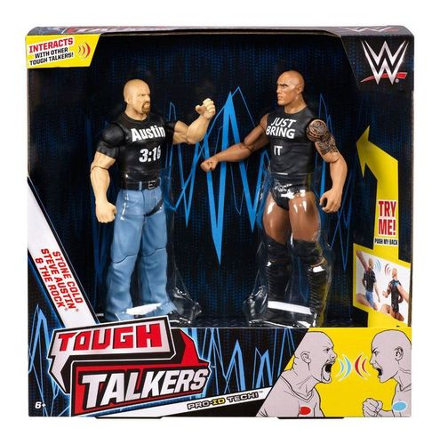 WWE Tough Talkers Actionfiguren Doppelpack The Rock & Steve Austin