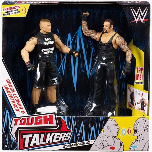 WWE Tough Talkers Actionfiguren Doppelpack The Undertaker & Brock Lesnar