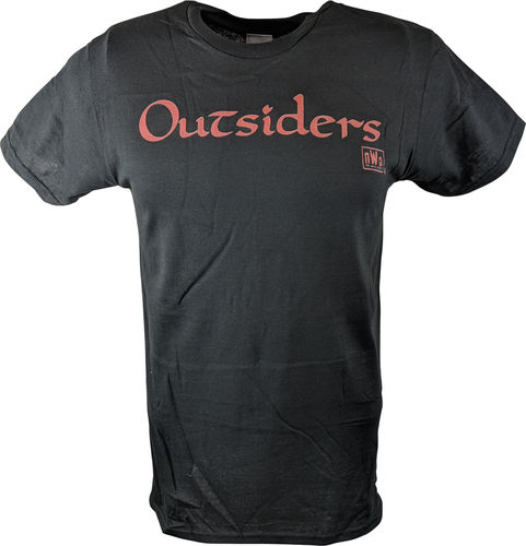 OUTSIDERS NEW WORLD ORDER NWO WWE MENS BLACK T-SHIRT