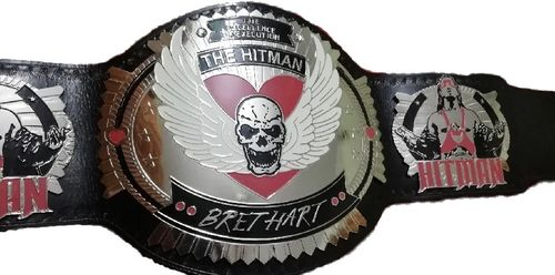 BRET HART THE HITMAN CHAMPIONSHIP ADULT SIZE REPLICA BELT