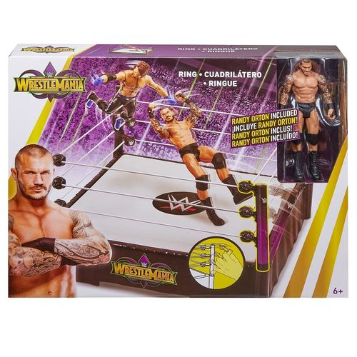 WWE - Wrestlemania-ring + Randy Orton-beeldje