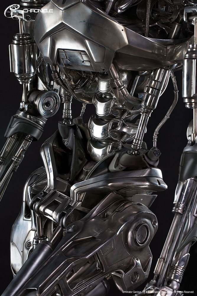 Terminator Genisys Life-Size Statue T-800 Endoskelett 198 cm